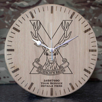 Highland Band Oak Clock
