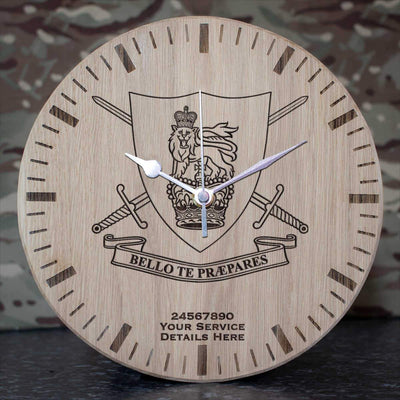 HQ Initial Training Group Oak Clock