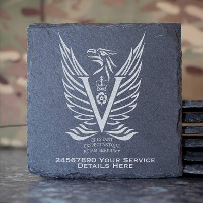 Intelligence Corps 5MI Battalion Slate Coaster