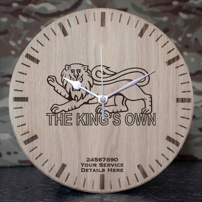 Kings Own Royal Regiment Oak Clock