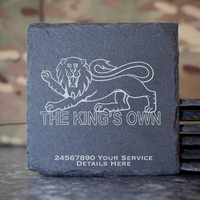Kings Own Royal Regiment Slate Coaster