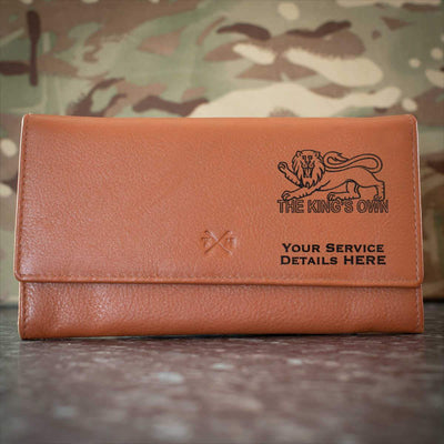 Kings Own Royal Regiment Leather Purse