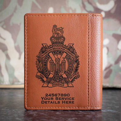 Kings Own Scottish Borderers Credit Card Wallet