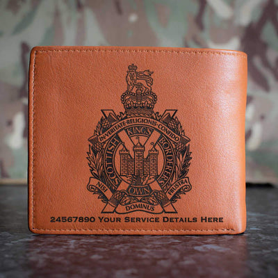 Kings Own Scottish Borderers Leather Wallet