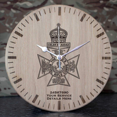 Kings Royal Rifle Corps Oak Clock