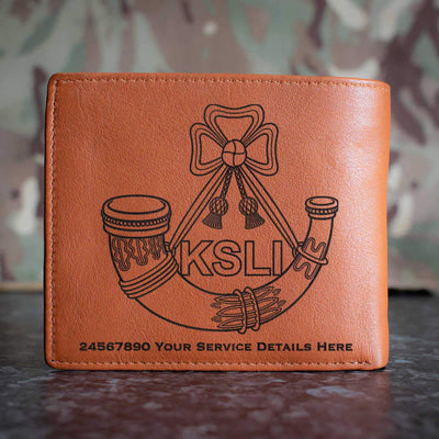 Kings Shropshire Light Infantry Leather Wallet
