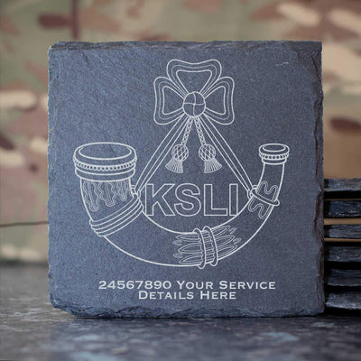 Kings Shropshire Light Infantry Slate Coaster