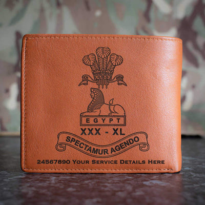 Lancashire Regiment Leather Wallet