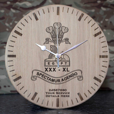 Lancashire Regiment Oak Clock