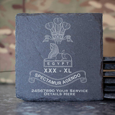 Lancashire Regiment Slate Coaster