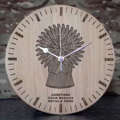 Lothians and Borders Horse Yeomanry Oak Clock