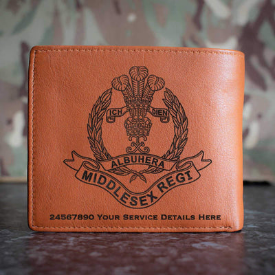 Middlesex Regiment Leather Wallet