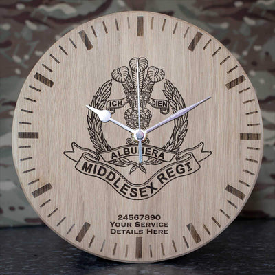 Middlesex Regiment Oak Clock