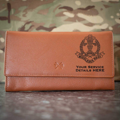Middlesex Regiment Leather Purse