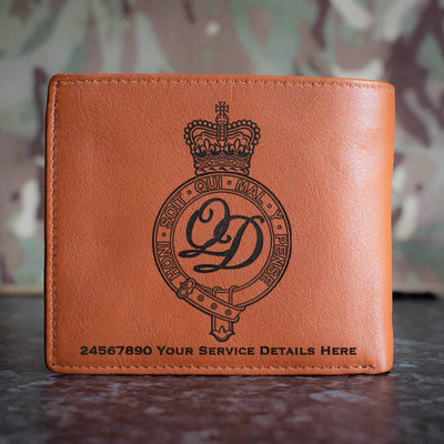 Minden Band of the Queens Division Leather Wallet