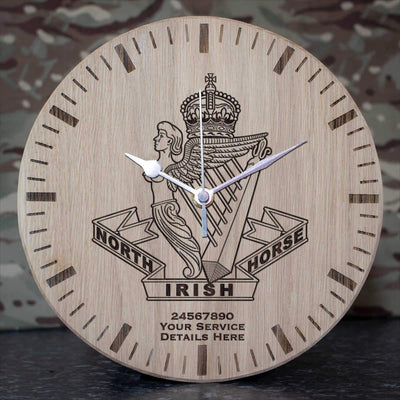 North Irish Horse Oak Clock
