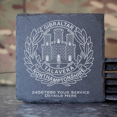 Northamptonshire Regiment Slate Coaster