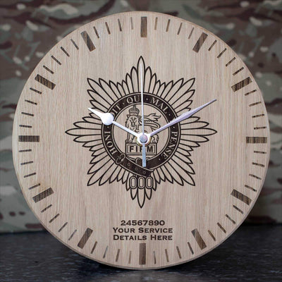 Worcestershire Regiment Oak Clock