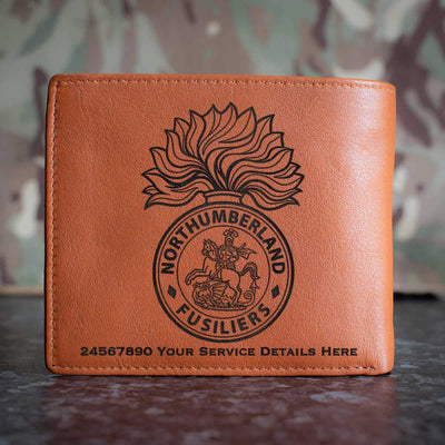 Northumberland Fusiliers Leather Wallet