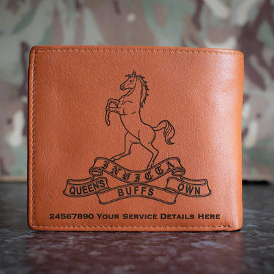 Queens Own Buffs Leather Wallet