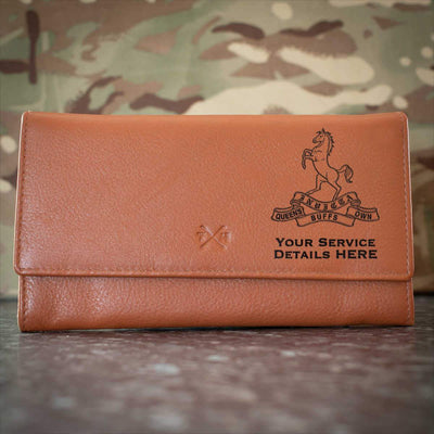 Queens Own Buffs Leather Purse