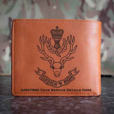 Queens Own Highlanders Leather Wallet