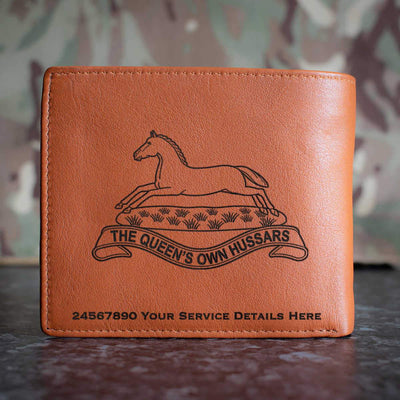 Queens Own Hussars Leather Wallet