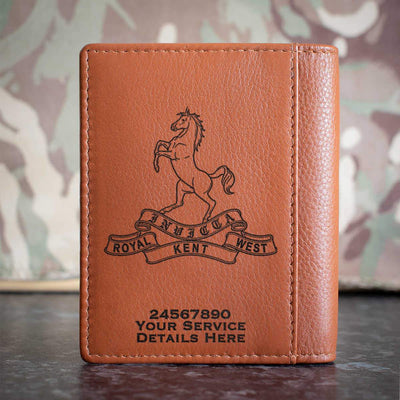 Queens Own Royal West Kent Regiment Credit Card Wallet