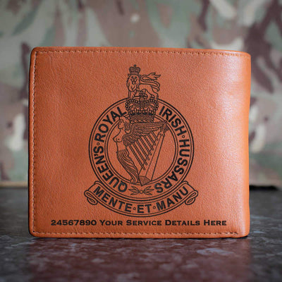 Queens Royal Irish Hussars Leather Wallet