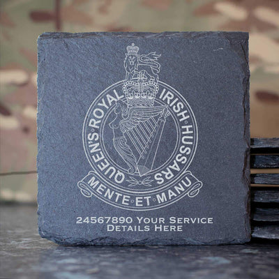 Queens Royal Irish Hussars Slate Coaster