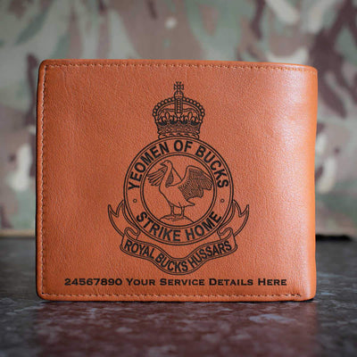 Royal Buckinghamshire Hussars Leather Wallet