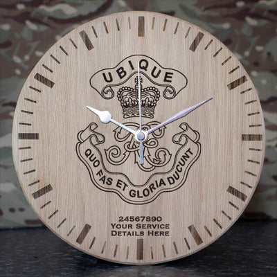 Royal Engineers Cypher Oak Clock