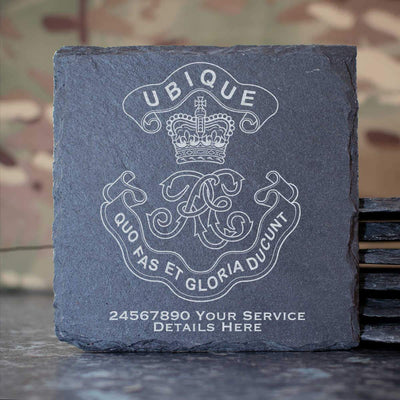 Royal Engineers Cypher Slate Coaster