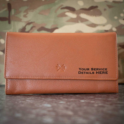 Royal Gloucestershire Hussars Leather Purse