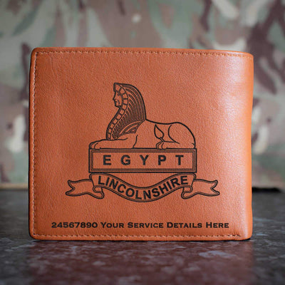 Royal Lincolnshire Regiment (Version A) Leather Wallet