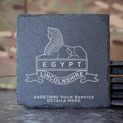 Royal Lincolnshire Regiment (Version A) Slate Coaster
