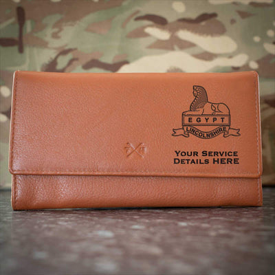 Royal Lincolnshire Regiment (Version A) Leather Purse