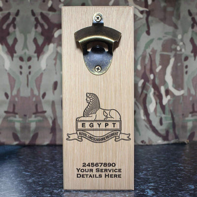 Royal Lincolnshire Regiment Wall-Mounted Bottle Opener