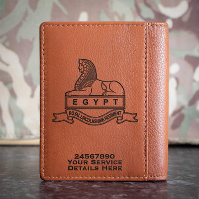 Royal Lincolnshire Regiment Credit Card Wallet
