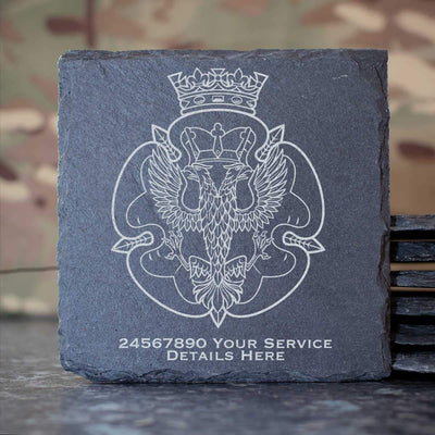 Royal Mercian and Lancastrian Yeomanry Slate Coaster