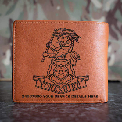 Yorkshire Regiment Leather Wallet