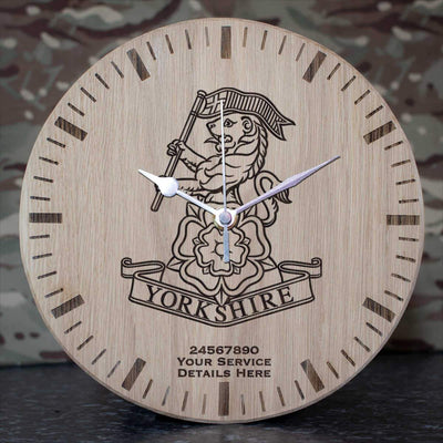 Yorkshire Regiment Oak Clock