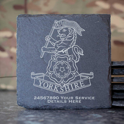 Yorkshire Regiment Slate Coaster