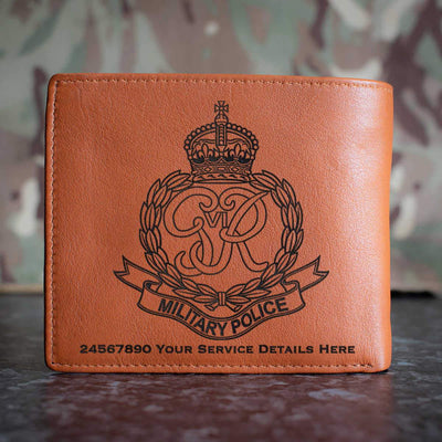 Royal Military Police (Kings Crown) Leather Wallet