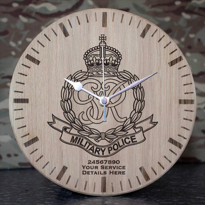 Royal Military Police (Kings Crown) Oak Clock