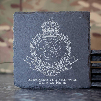 Royal Military Police (Kings Crown) Slate Coaster