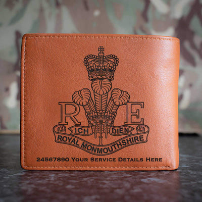 Royal Monmouthshire Regiment Leather Wallet