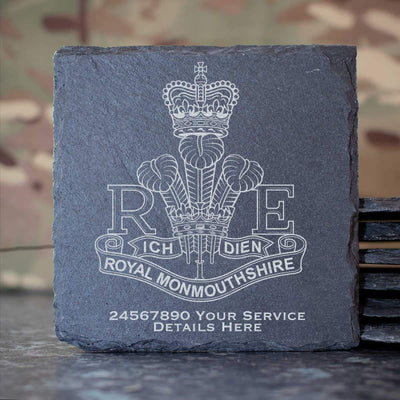 Royal Monmouthshire Regiment Slate Coaster