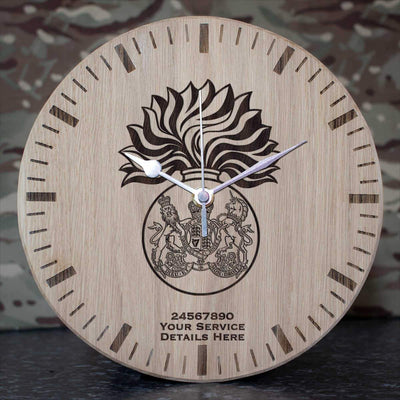 Royal Scots Fusiliers Oak Clock