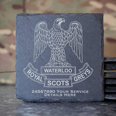 Royal Scots Greys Slate Coaster